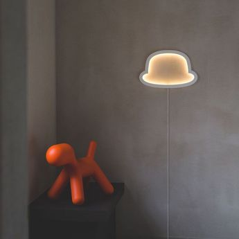 Applique murale chapeau chap o henri blanc led l49cm h32cm atelier pierre da4b8db4 c79f 4cea b735 6a26df1ea004 normal