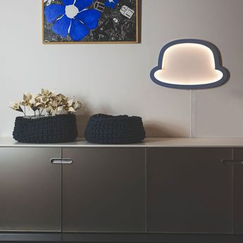 Applique murale chapeau chap o henri bleu led l49cm h32cm atelier pierre normal