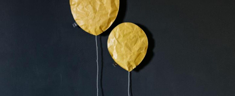 Applique murale cheddar lighting balloon large jaune o27cm h31cm ekaterina galera normal