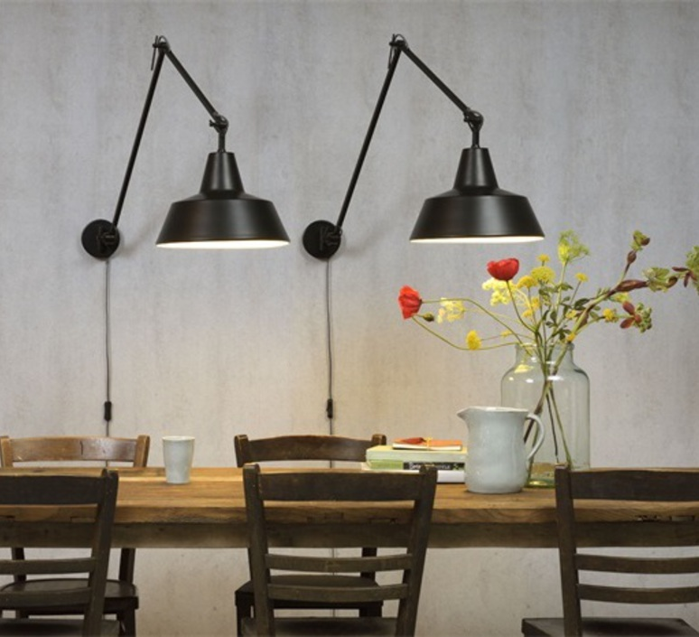 Its About Romi.Wall Light Chicago Wa Black O36cm H80cm It S About Romi