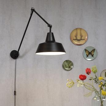 Applique murale chicago wa noir o36cm h80cm it s about romi normal