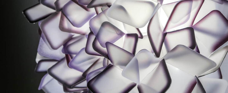 Applique murale clizia l violet led o78cm p78cm slamp normal