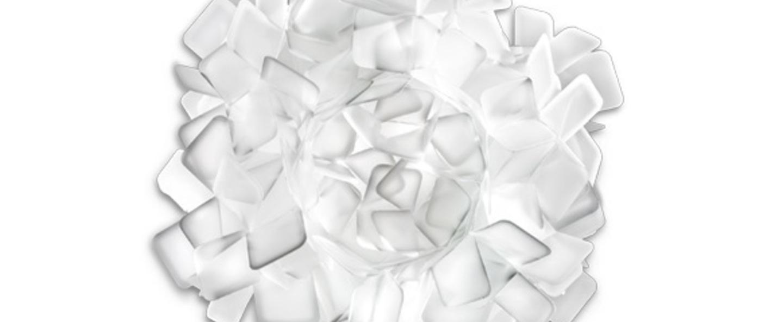 Applique murale clizia m blanc o53cm p53cm slamp normal