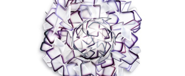 Applique murale clizia m violet o53cm p53cm slamp normal