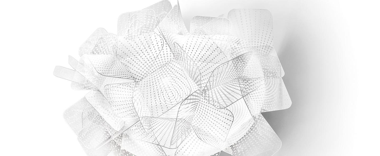 Applique murale clizia pixel gris blanc o32cm p15cm slamp normal