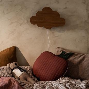 Applique murale cloud lamp bois marron led l40cm h25cm ferm living normal