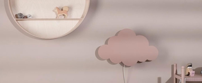 Applique murale cloud lamp rose led l40cm h25cm ferm living normal