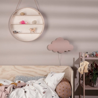 Applique murale cloud lamp rose led l40cm h25cm ferm living normal