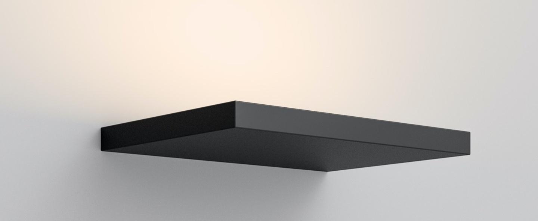 Applique murale cm2 w2 noir mat led 2700k 3400lm l26cm h2cm rotaliana normal