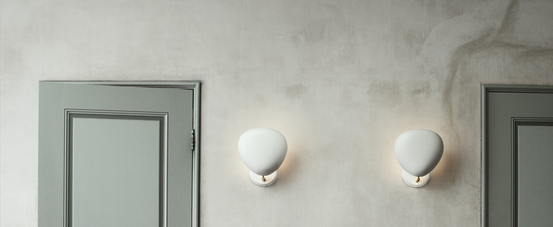 Applique murale cobra blanc mat h33 3cm l28 9cm gubi normal
