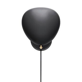 Applique murale cobra noir h33 3cm l28 9cm gubi normal