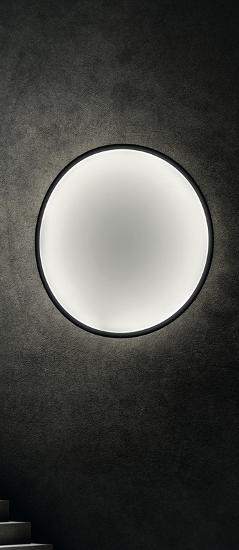 Applique murale collapsible moon noir et blanc led o120cm hcm palluco normal