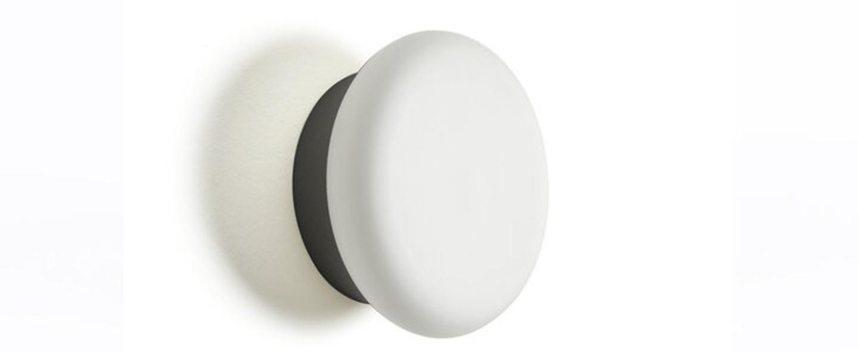 Applique murale collona verre opal blanc noir l25cm h25cm eno studio normal