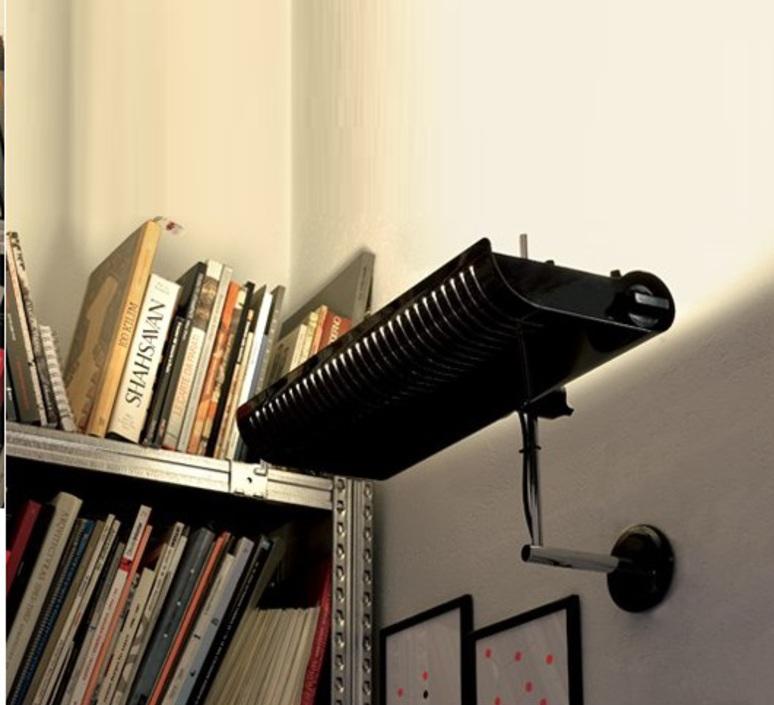 Colombo joe colombo oluce 761 noir luminaire lighting design signed 22573 product
