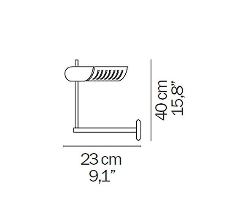 Colombo joe colombo oluce 761 noir luminaire lighting design signed 22576 product