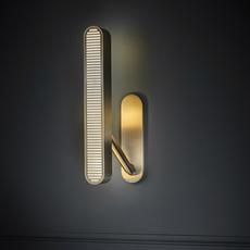Aegis  applique murale wall light  bert frank aegis wall light copper brass  design signed 54870 thumb