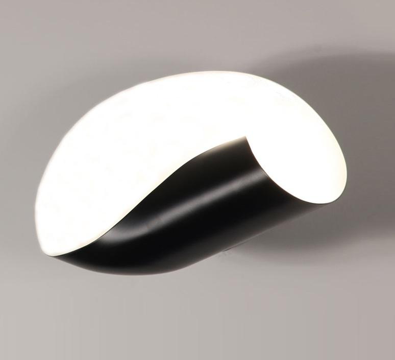 Conche droite serge mouille editionssergemouille conc noir droite luminaire lighting design signed 20799 product