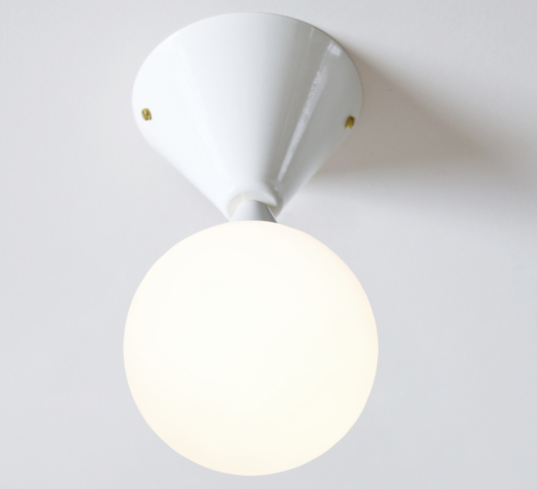 Cone and sphere  gwendolyn et guillane kerschbaumer applique murale wall light  areti cone and sphere wall ceiling white  design signed nedgis 64040 product