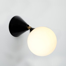 Cone and sphere  gwendolyn et guillane kerschbaumer applique murale wall light  areti cone and sphere wall ceiling white brass  design signed nedgis 75893 thumb