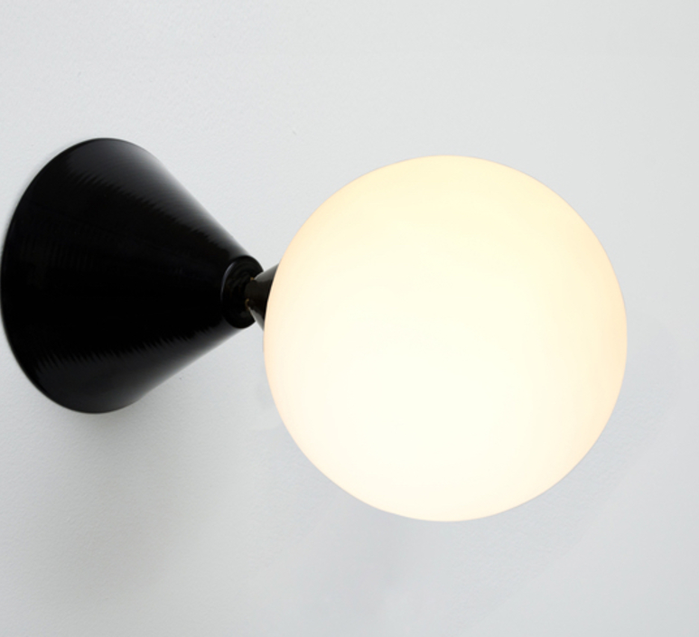 Cone and sphere  gwendolyn et guillane kerschbaumer applique murale wall light  areti cone and sphere wall ceiling black  design signed nedgis 64043 product