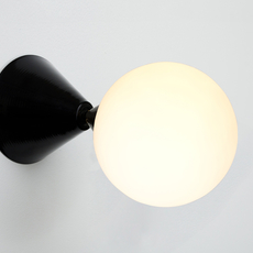 Cone and sphere  gwendolyn et guillane kerschbaumer applique murale wall light  areti cone and sphere wall ceiling black  design signed nedgis 64043 thumb