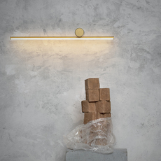 Wall Light Coordinates Wall 1 Champagne Led 2700k 962lm L80cm H10cm Flos Nedgis Lighting