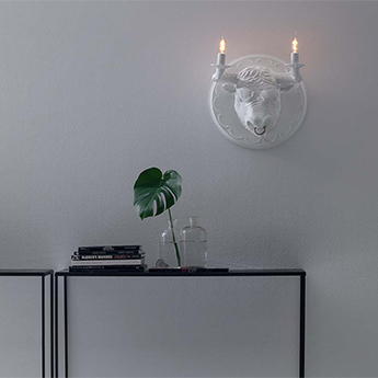 Applique murale corrado blanc mat l40cm h40cm karman normal