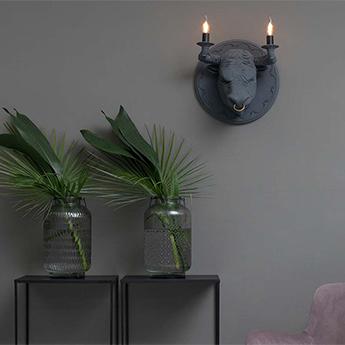 Applique murale corrado gris mat l40cm h40cm karman normal