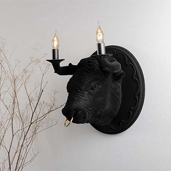 Applique murale corrado velours noir l40cm h40cm karman normal