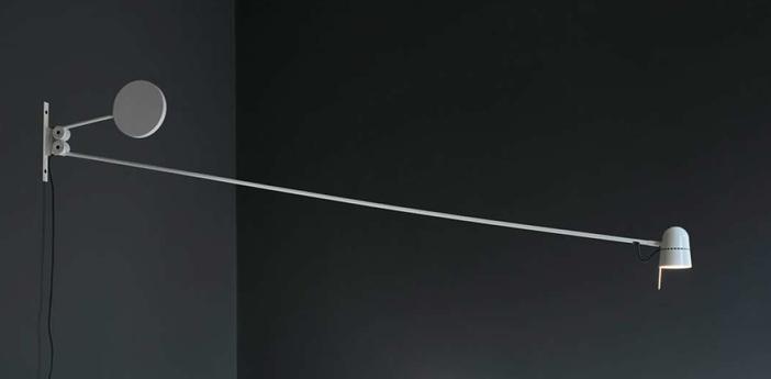 Applique murale counterbalance d73n blanc led 2700k 800lm l191 6cm h76 2cm luceplan normal