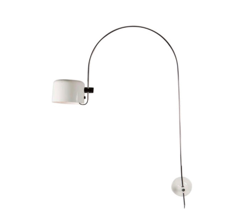 Coupe joe colombo oluce 1158 blanc luminaire lighting design signed 22566 product
