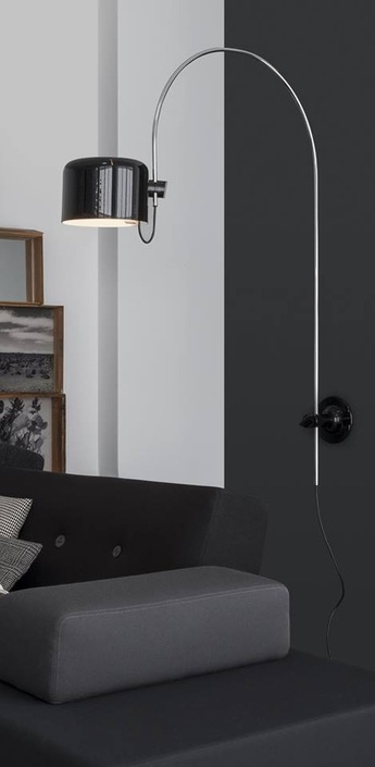 Applique murale coupe noir h115cm oluce normal
