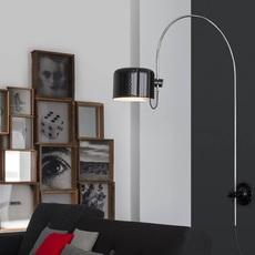 Coupe joe colombo oluce 1158 noir luminaire lighting design signed 22568 thumb