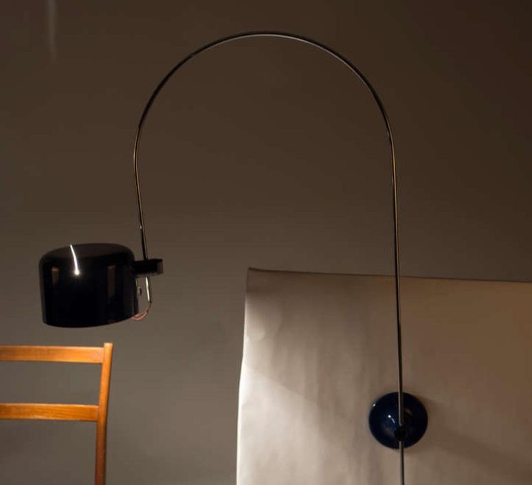 Coupe joe colombo oluce 1158 noir luminaire lighting design signed 22569 product