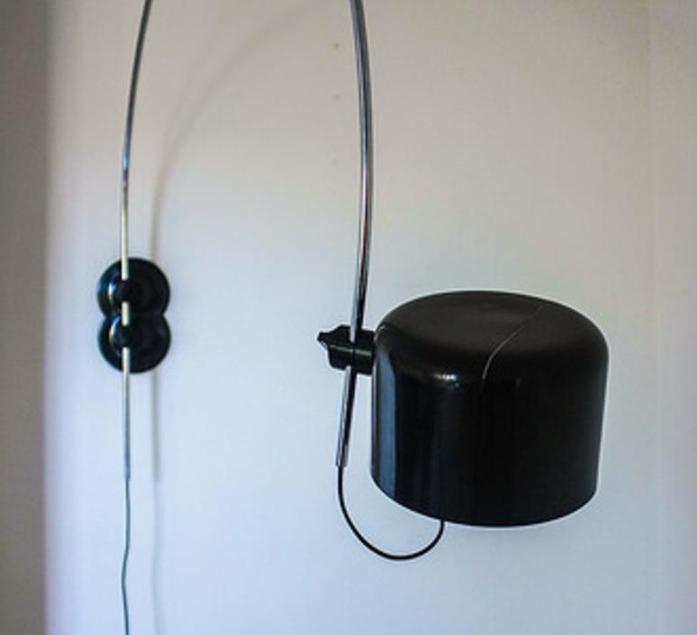 Coupe joe colombo oluce 1158 noir luminaire lighting design signed 22570 product