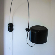 Coupe joe colombo oluce 1158 noir luminaire lighting design signed 22570 thumb