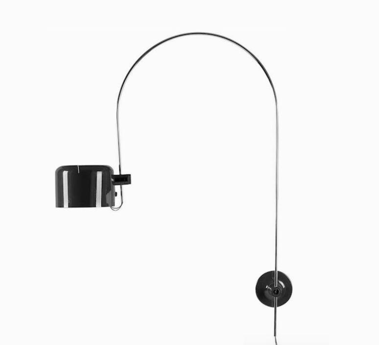 Coupe joe colombo oluce 1158 noir luminaire lighting design signed 22571 product