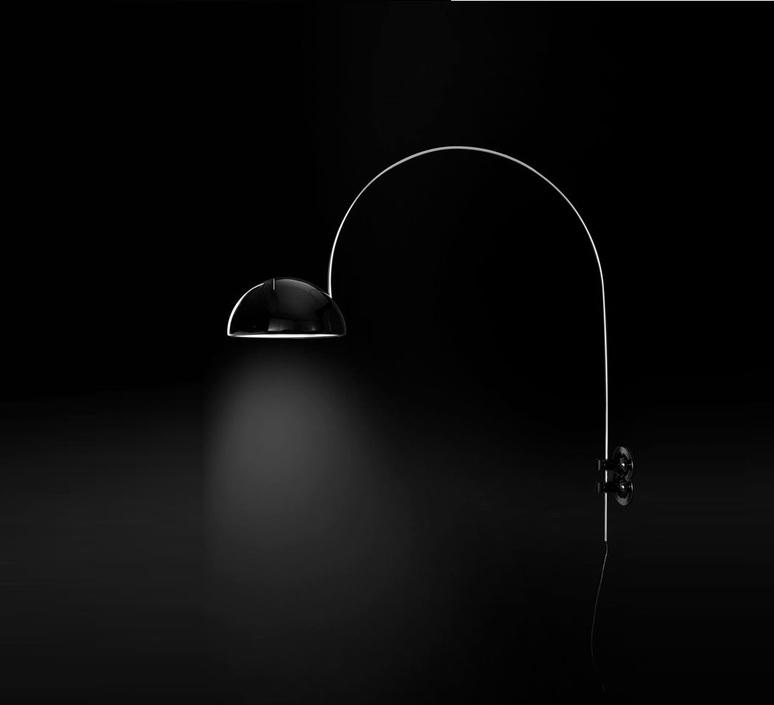 Coupe joe colombo oluce 1159 r noir luminaire lighting design signed 22563 product