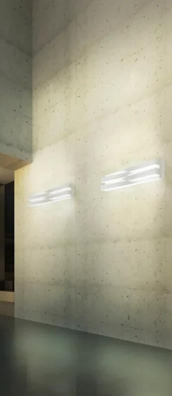 Applique murale cross dimmable blanc led 3000k 4680lm l60cm h11 5cm panzeri normal