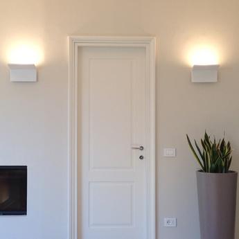 Applique murale cuma 20 blanc poli led h14 8cm l20cm artemide normal