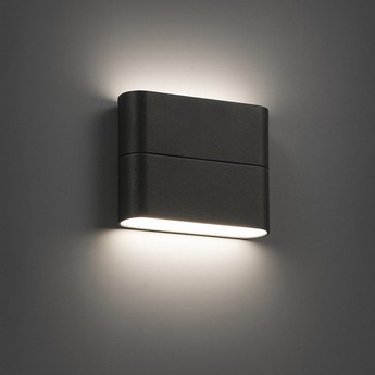 Outdoor wall light aday 1 led dark grey ip54 l11 3cm for Luminaire exterieur led mural