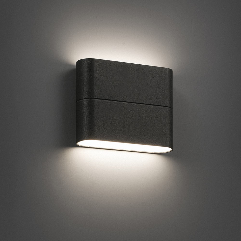 applique murale d 39 ext rieur aday 1 led ip54 gris fonc l11 3cm h9cm faro luminaires nedgis. Black Bedroom Furniture Sets. Home Design Ideas