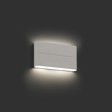 Outdoor wall light aday 2 led ip54 white l17 5cm h9cm for Applique exterieur led