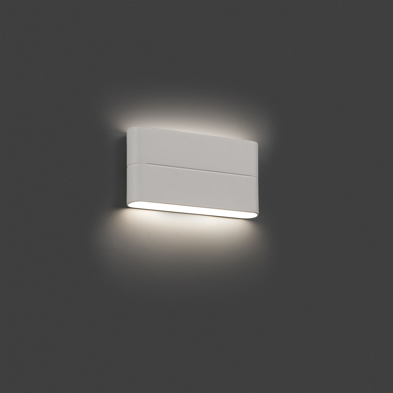 outdoor wall light aday 2 led ip54 white l17 5cm h9cm