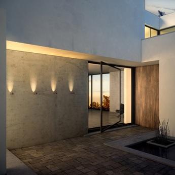 Applique murale d exterieur bamboo 4820 oxyde ip66 led 2700k 100lm o4cm h19cm vibia normal