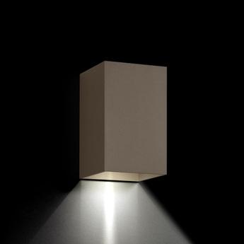 Applique murale d exterieur box 3 0 up or down bronze ip65 led 2700k 400lm o10cm h16cm wever ducre normal