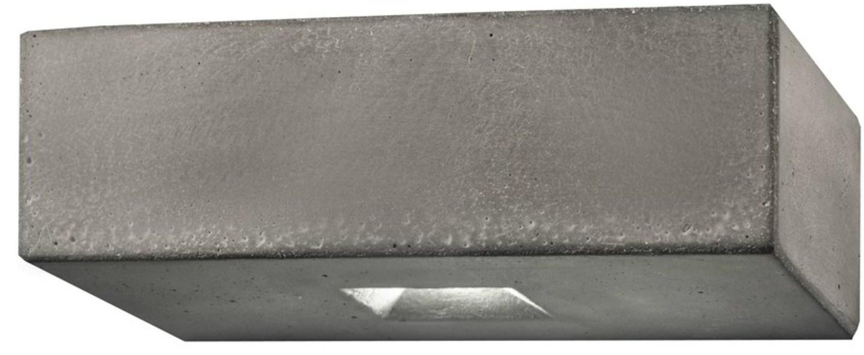 Applique murale d exterieur brique 2o gris led l25cm h8cm lucifero s normal