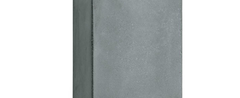Applique murale d exterieur brique 2v gris led l12cm h20cm lucifero s normal