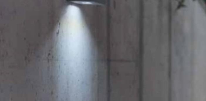 Applique murale d exterieur brique o gris led l25cm h8cm lucifero s normal