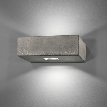 Applique murale d exterieur brique o gris up and down led 3000 k 2130lm l25cm h8cm lucifero s normal